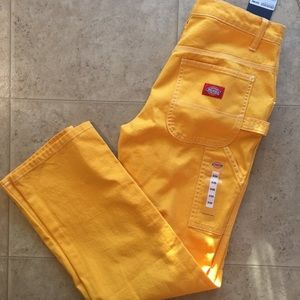 Dickies Girl High Waisted Gold Carpenter Pants